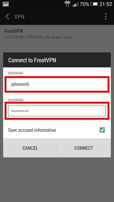 Best VPN L2TP for Android   FrootVPN Setup
